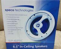 Speco Sp-625c, In-ceiling/in-wall Speaker - Pair