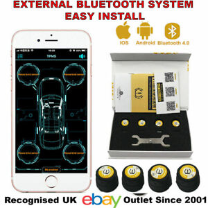 Bluetooth-Car-TPMS-Tire-Pressure-Monitor-System-BT-4-0-BLE-for-iOS-or-Android-UK