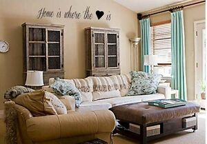 Home Is Where The Heart Is Vinyl Wall Decals Quotes Sayings Word
