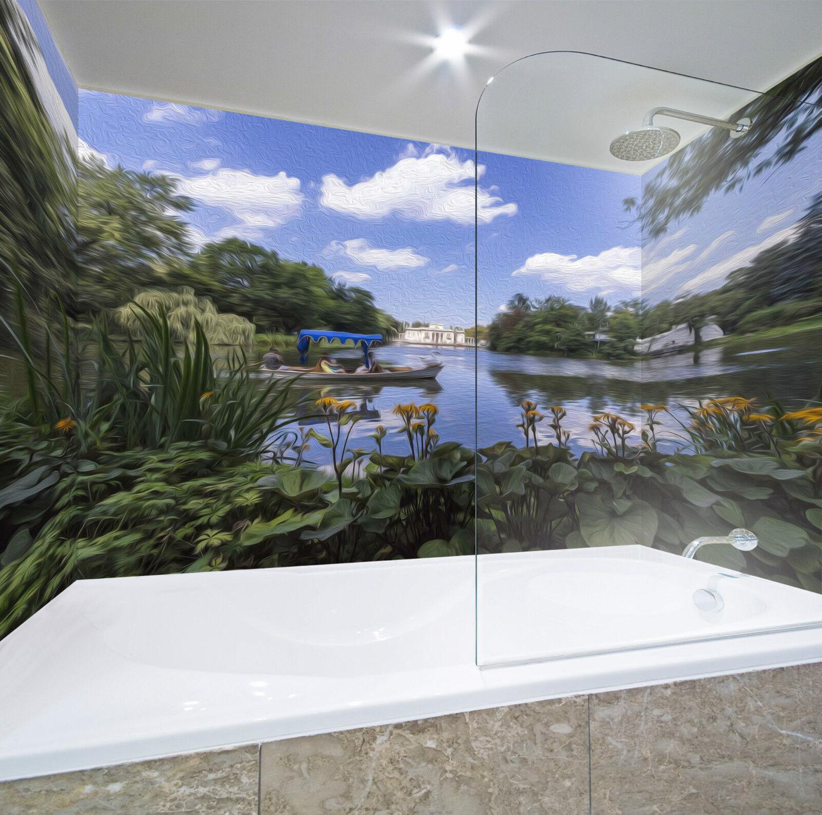 3D Lake Painting 062 WallPaper Bathroom Print Decal Wall Deco AJ WALLPAPER CA