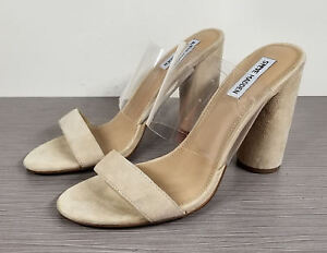 b31fa8d91ee Image is loading Steve-Madden-Cheers-Slide-Sandal-Nude-Suede-Womens-