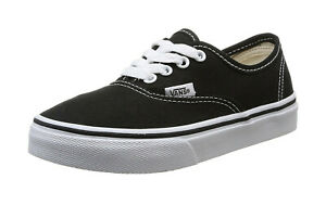 cf5348b0ce VANS Authentic Black True White Canvas Kids Fashion Sneakers Girls ...