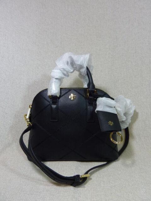 5d14f6205d3 NWT Tory Burch Black Saffiano Mini Robinson Stitched Dome Cross Body Bag -   425