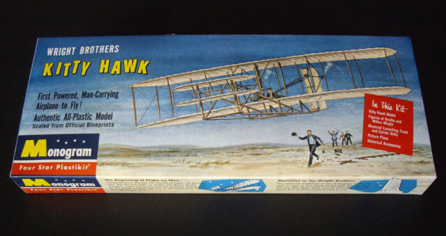 1950s/60s Vintage Monogram Kit 1st Issue Wright Brothers Flyer at Kitty Hawk