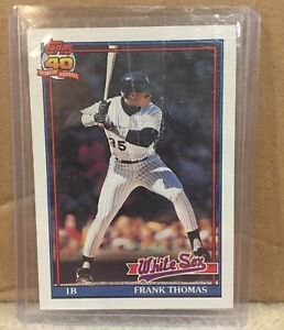 1991-Topps-Frank-Thomas-79-Baseball-Card-Chicago-White-Sox-MLB-HOF-Hall-of-Fame