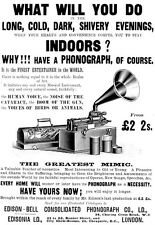 Advertisment for Edisons phonograph  1900  Print  Poster