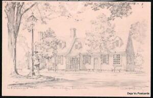 WILLIAMSBURG-VA-Chowning-039-s-Tavern-Charles-Overly-Vtg-PC-Postcard