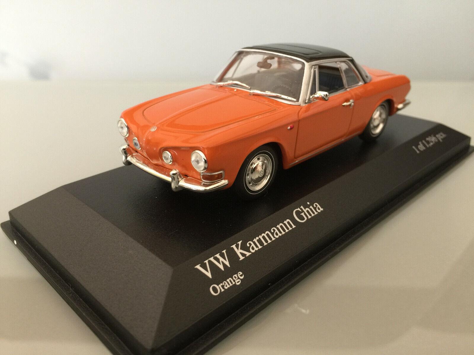 1 43 Minichamps VW Karmann Ghia 1600 , 1966 , Orange