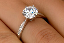Earth-Mined 0.70 CT D VS2 ENHANCED DIAMOND ENGAGEMENT RING ROUND 14K WHITE GOLD