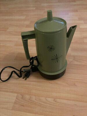 100% Waar Vintage Regal Ware Poly Perk Coffee Percolator Avocado Green Starburst 4-8 Cups Bespaar 50-70%