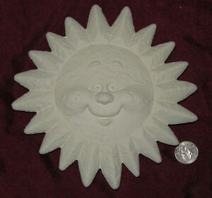 Ceramic Bisque Happy Sun Smiling Plaque Wall Hanging U Paint Ready to Paint