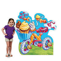 Candy Land Tricycle Standee Has Tricycle Made From Yummy Candy Candyland