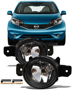for 2014 2016 nissan versa note replacement fog lights housing clear