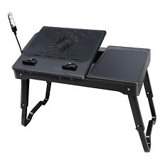 Laptop Table Stand Multi Functional Computer Notebook Internal Cooling Fan LED