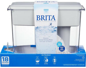 Kochen & Genießen Gray Möbel & Wohnen Brita 18-Cup UltraMax Water Pitcher Filtered Water Dispenser w/ 1 Filter