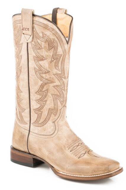 dc348e395e2 Roper Concealed Carry Womens Tan Leather Sense 1 Cowboy Boots