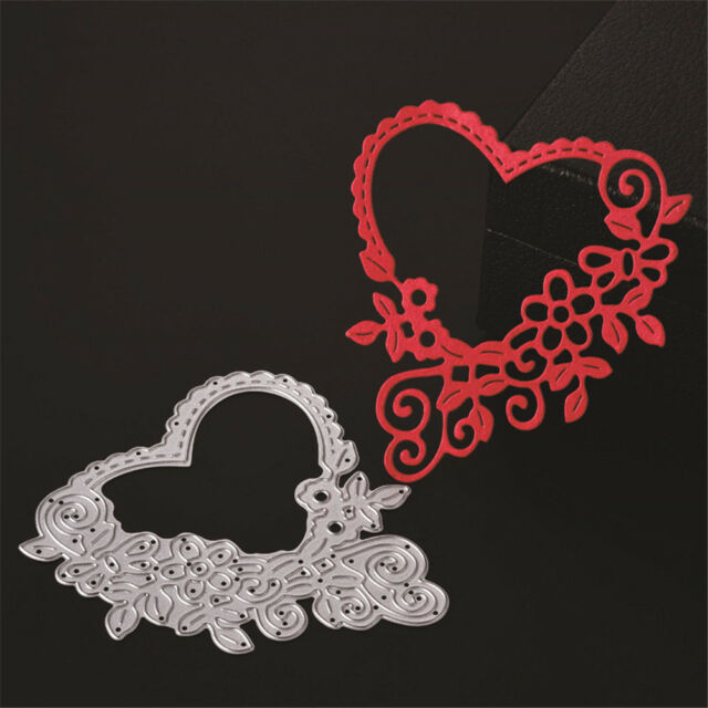 Novelty Hollow Out Heart Cutting Dies Stencils Scrapbooking Card Photo Album Tk