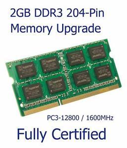 2GB DDR3 Memory Ram Upgrade ASRock N3050B-ITX Motherboard PC3-12800S 1600MHz