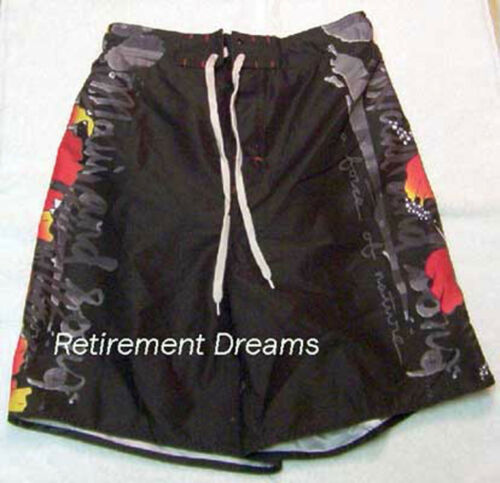 Trunks L New Swim Board Sons Maui Red Boys And Black Hibiscus Bathing Shorts B6AnXq