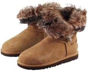 8b5a179e0c8 Details about $250 UGG Meadow Short Boots Fur 1008043 Chestnut Womens Size  5 New in Box