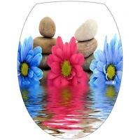 Sticker Abattant Wc Fleurs Et Galets 259