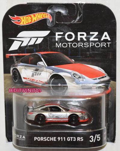 HOT WHEELS 2017 RETRO ENTERTAINMENT FORZA MOTORSPORT PORSCHE 911 GT3 RS
