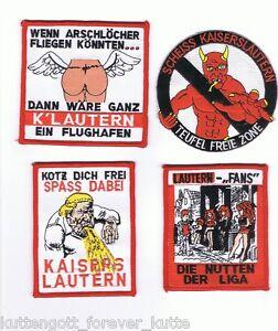 """Anti Kaiserslautern Aufnäher /""""Spass dabei/"""" Fan Kutte"""