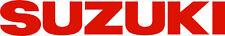 """#P112 (2) 11.5"""" Suzuki Logo Motorcycle Window Decals Stickers GLOSS RED"""