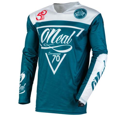 Gray//Teal Motocross Off-Road O/'Neal 2020 Mayhem Reseda Jersey