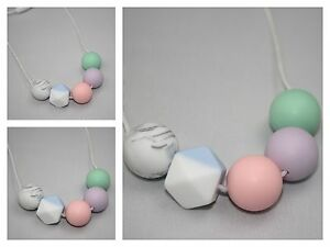 was teething Silicone  Necklace for mum pink sensory Baby Tapuu jewellery