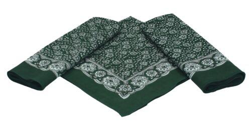Betz 3er Pack Nickituch Kopftuch Halstuch klassischem Paisleymuster 55x55 cm