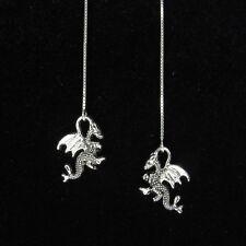 "925 Sterling Silver Humming Bird Earrings Drop Dangle     Length 1.1//5/"""
