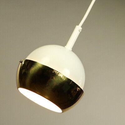 Pendel Leuchte Lamellen Kugel Hänge Lampe Messing & Weiß Vintage 70er Jahre Im Sommer KüHl Und Im Winter Warm
