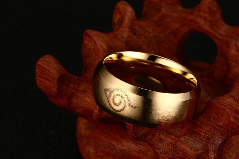 Naruto Akatsuki Uchiha Itachi Logo Ring Size 7 to 12 Three Color Anime Ring Gift