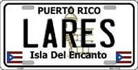 Lares Puerto Rico Metal Novelty License Plate
