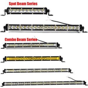 Single-Row-Slim-Led-Work-Light-Bar-Spot-Flood-Combo-Off-road-For-Car-ATV-SUV-4X4