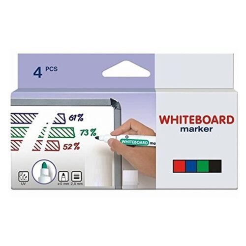 Whiteboardmarker 4er Satz 4 Farben Stifte Whitebord Marker Weißwand 2,5mm