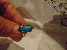 Aquamarine  fashion costume jewelery ring