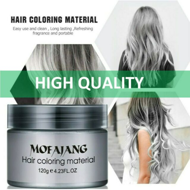 120g Silver Ash Gray Hair Color Wax Temporary Hair Wax Easy Use Hairstyle 120ml For Sale Online Ebay