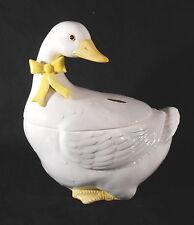 "1983 OTAGIRI ~9 3/4"" Tall Duck / Goose White & Yellow Soup Tureen w/ Lid - Japan"