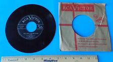 VTG EDDIE FISHER THATS WHAT CHRISTMAS MEANS TO ME & CHRISTMAS DAY 45 RPM RECORD