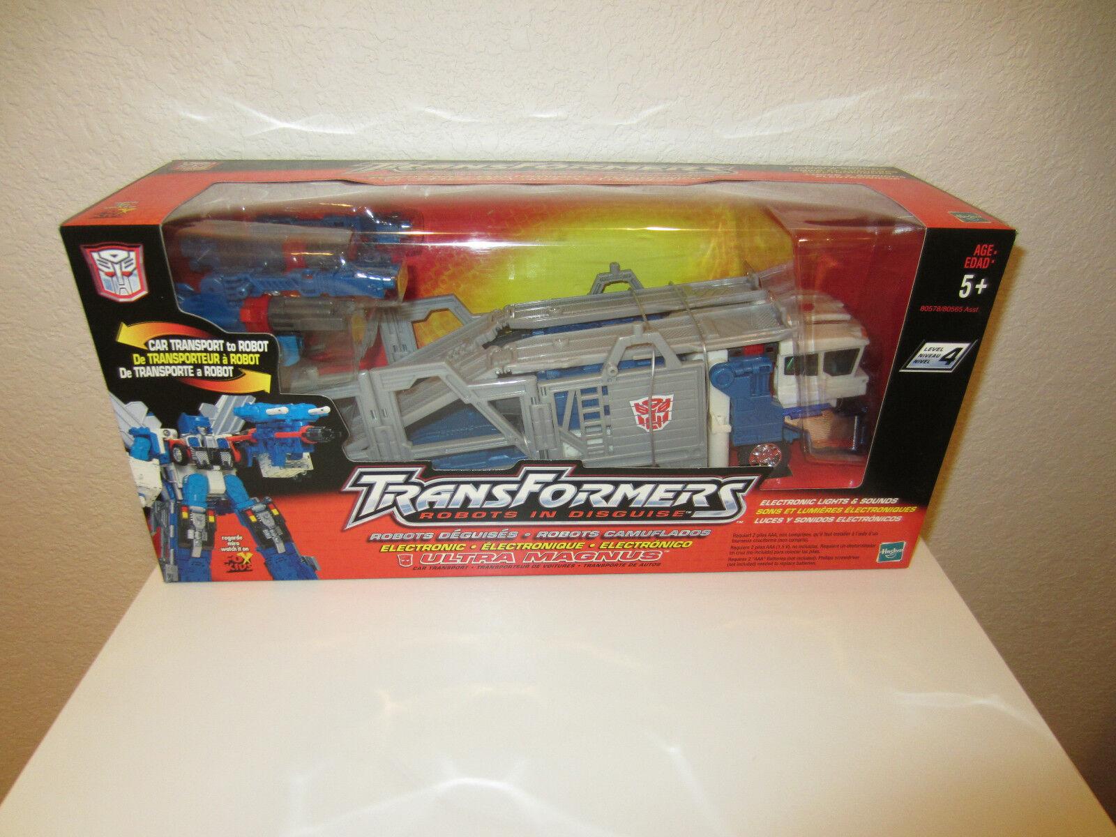 punto de venta de la marca Transformers Rid Ultra Magnus Magnus Magnus Figura De Acción transporte de coche a robot 2001 sin usar y en caja sellada  bajo precio del 40%