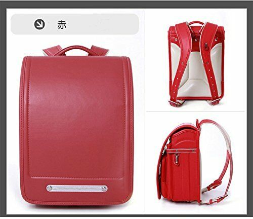 QWAWA RANDOSERU RANDSEL JAPANESE OFFICIAL SCHOOL BACKPACK RED JAPAN F//S a