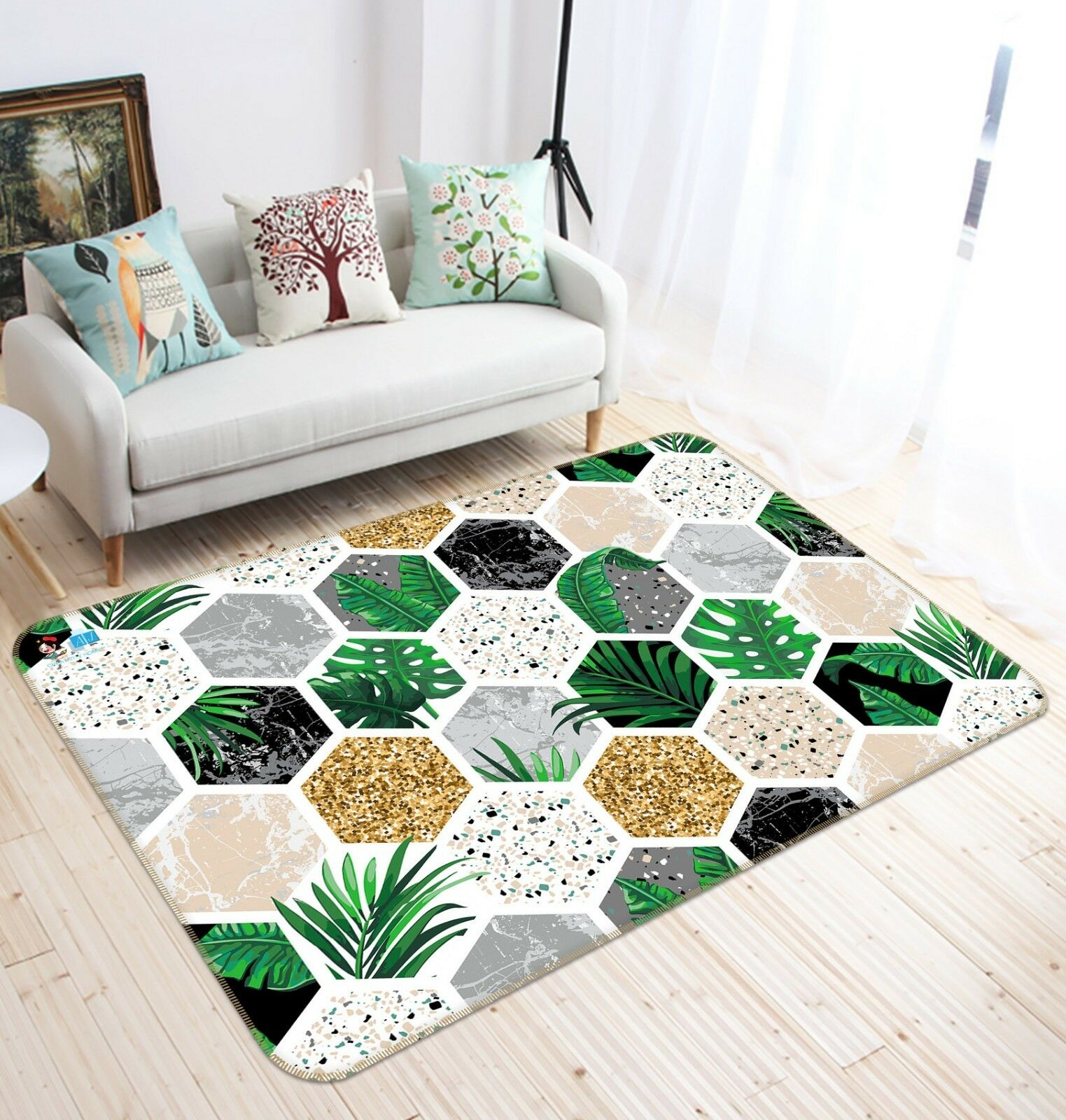 3d plantas imagen Design 4 antideslizante alfombra maletero calidad elegante alfombra