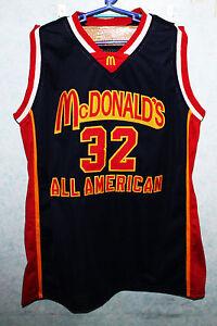 buy popular 6f2e0 74dee LEBRON JAMES McDONALDS ALL AMERICAN JERSEY BLUE McDONALD NEW ...