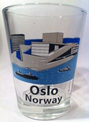 OSLO NORWAY OPERA HOUSE SHOT GLASS SHOTGLASS
