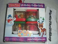 Peek a Blocks Christmas Holiday 4 pack Fisher Price Holiday Collection