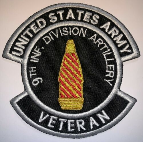 B45 US ARMY 9TH INFANTRY DIVISION ARTILLERY VETERAN PATCH HOOK /& GLUE ON NEW