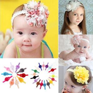 1/8/10/18Pcs Baby Girls Flower Elastic Headbands Photography Props Hairband Lot