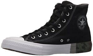 826fd8018595 Converse Hi Top All Star 159549F Mens Black Dolphin White Shoes Camo ...